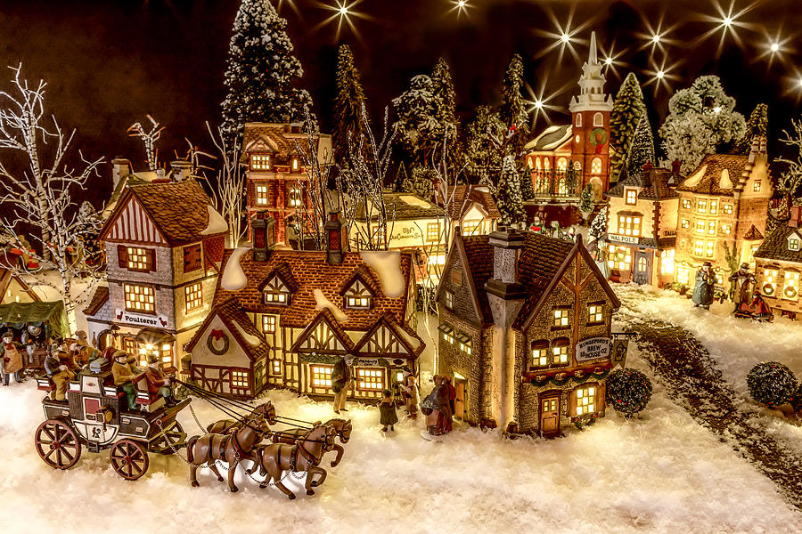 Christmas Village Photograph - A Very Merry Christmas by Caitlyn  Grasso
