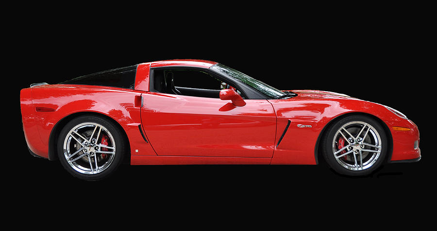 Red Photograph - A Very Red Corvette Z6 by Allen Beatty
