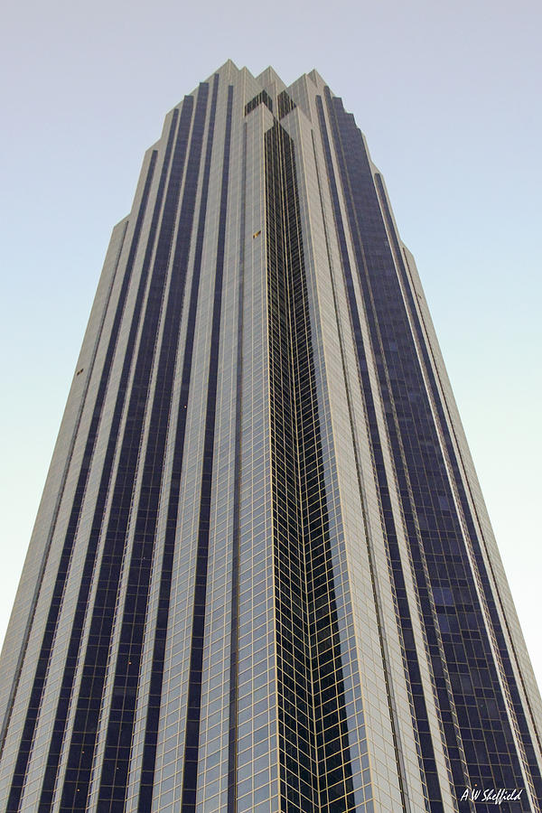 Houston Photograph - A Very Tall Building in Houston by Allen Sheffield