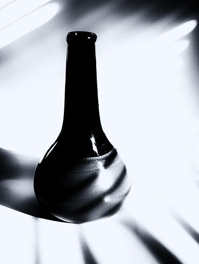 Vase Photograph - A Vessel 3 ...black And White by Tom Druin