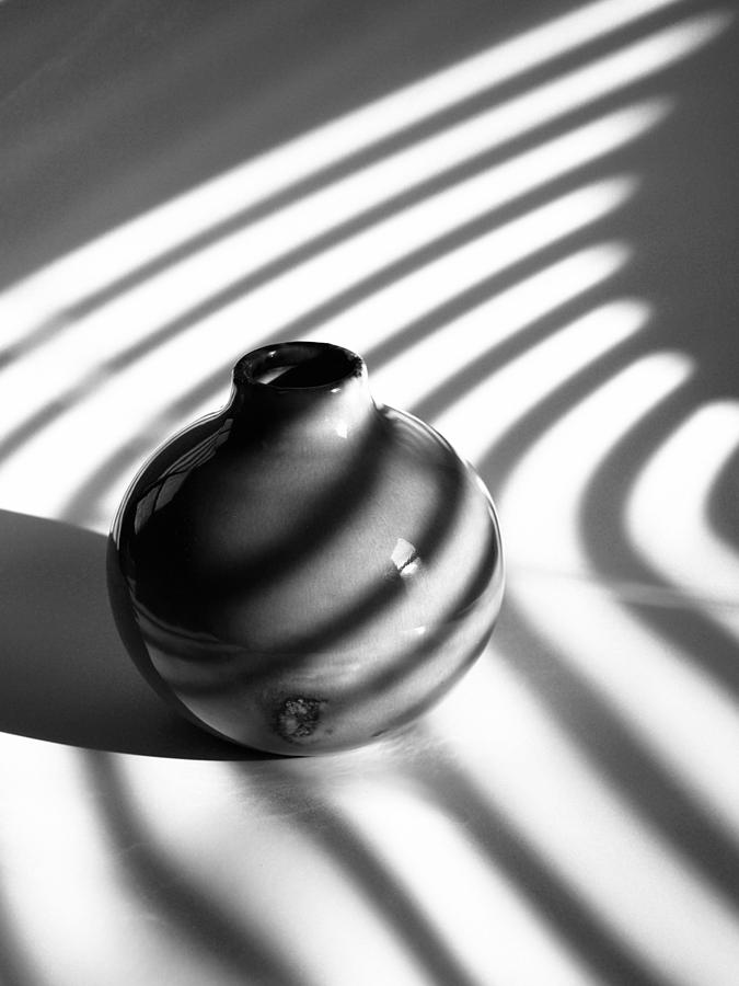Vase Photograph - A Vessel...black And White by Tom Druin