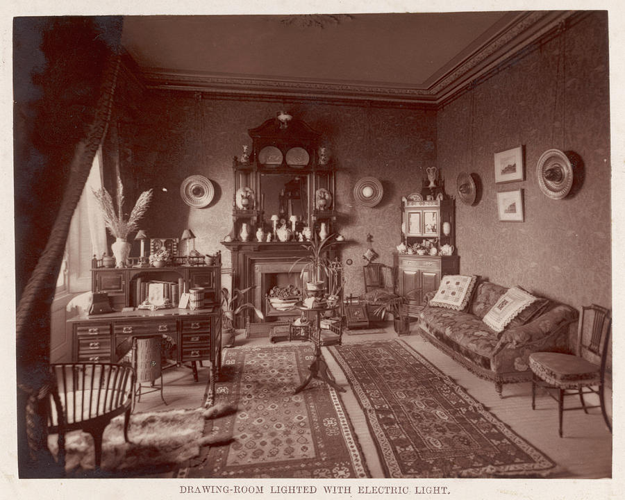 A Victorian Sitting Room With Electric
