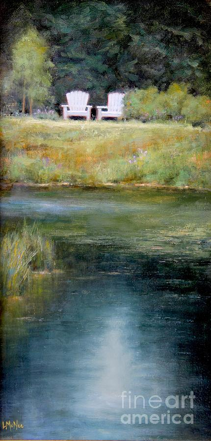 Landscape Oil Painting - A View For Two  by Lori  McNee