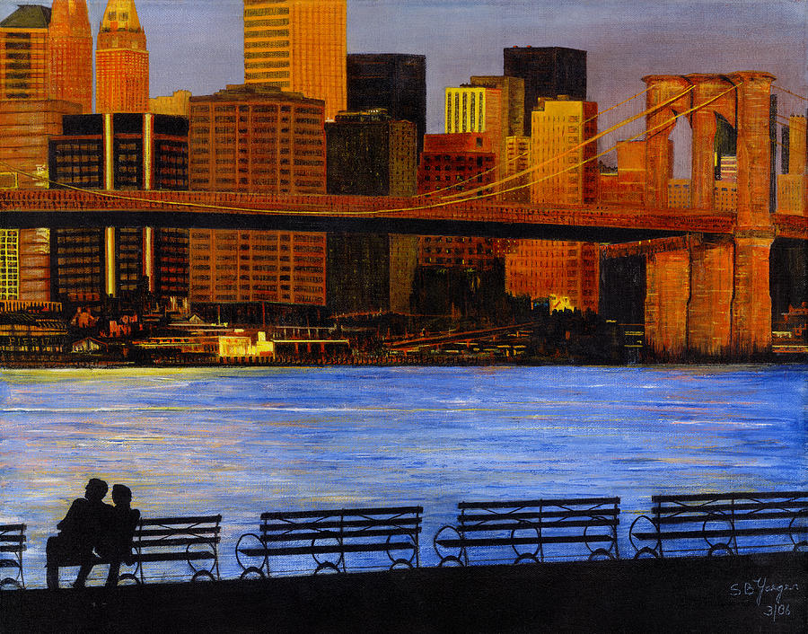 A View From Brookklyn Painting by Stuart B Yaeger