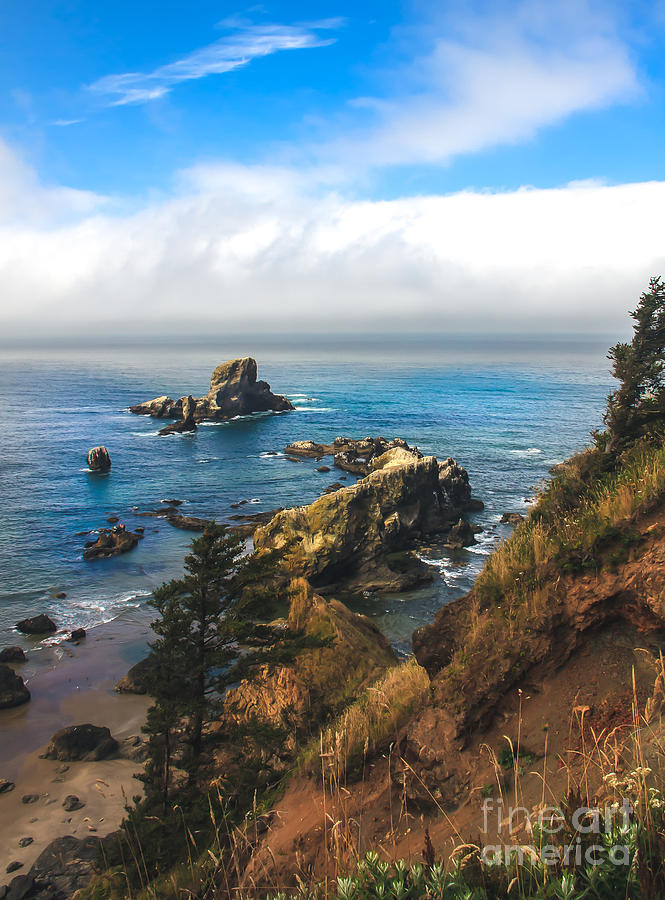 Rocks Photograph - A View From Ecola State Park by Robert Bales