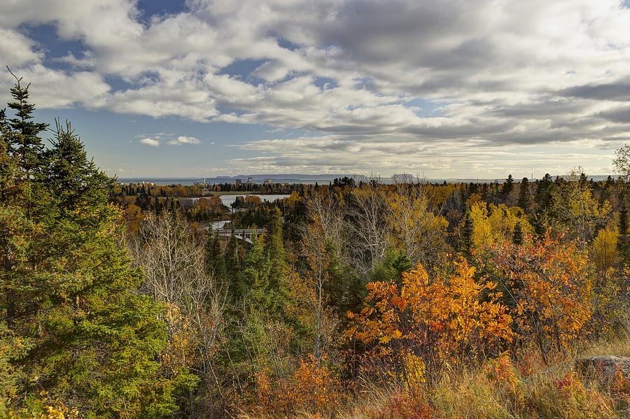 Thunder Bay Photograph - A View From The Bluffs by Linda Ryma