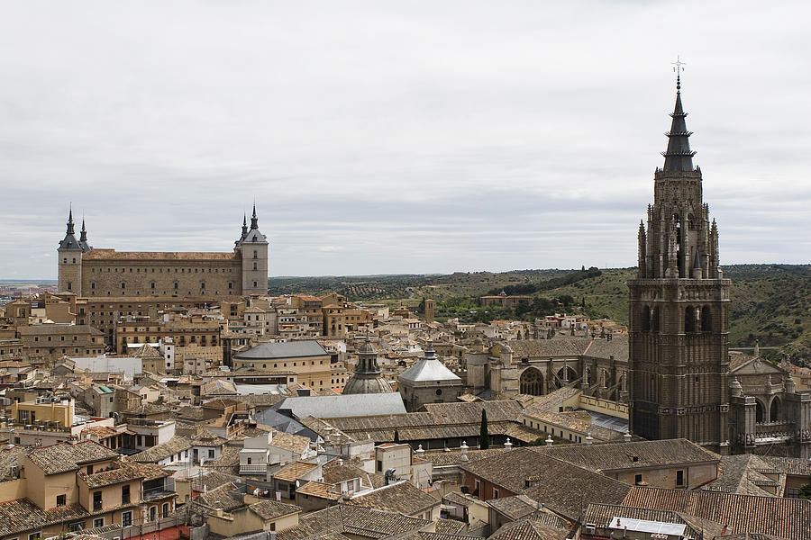 Toledo Photograph - A View From The Iglesia De San Ildefonso  by Lorraine Devon Wilke