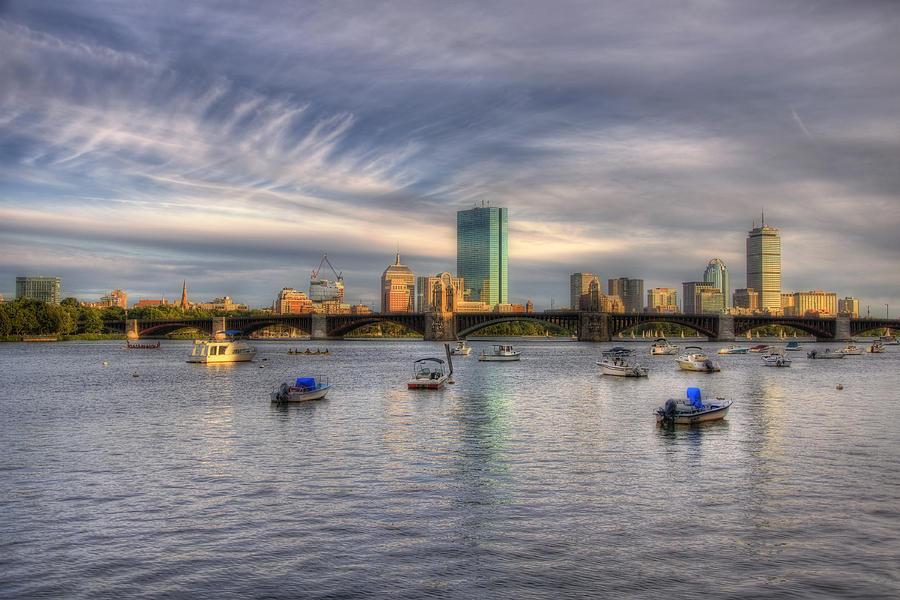 Massachusetts Photograph - A View Of Back Bay - Boston Skyline by Joann Vitali