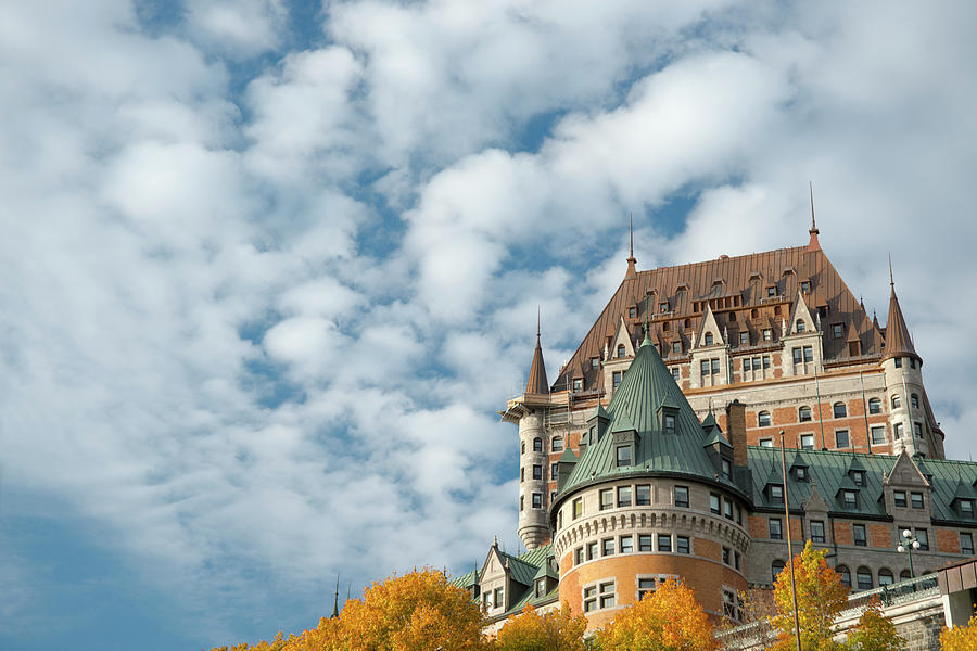 Hotel Photograph - A View Of The Chateau Frontenac, Quebec by Ellen Rooney / Robertharding