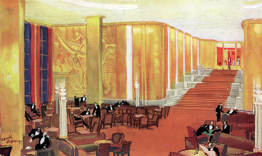 Transport Drawing - A View Of The Luxurious And Spacious by Mary Evans Picture Library