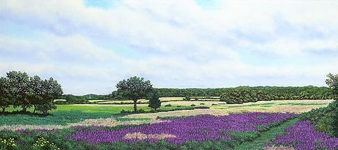Massachusetts Pastel - A View Towards Essex by Anthony Petchkis