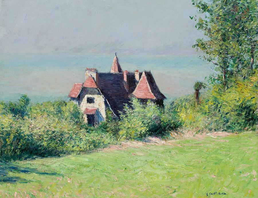 A Villa At Trouville Painting by Gustave Caillebotte