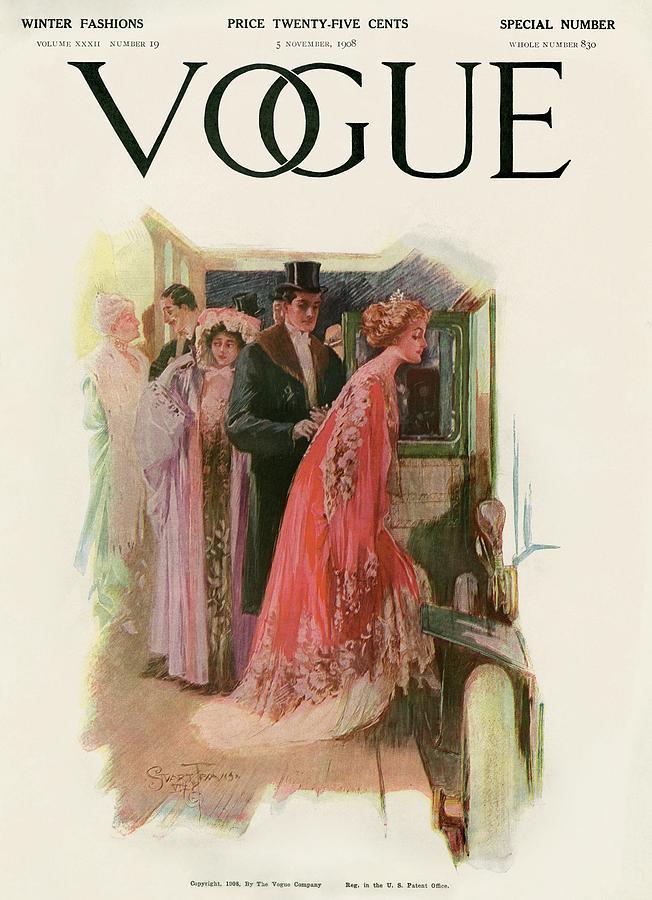 A Vintage Vogue Magazine Cover Of A Couple Photograph by Stuart Travis