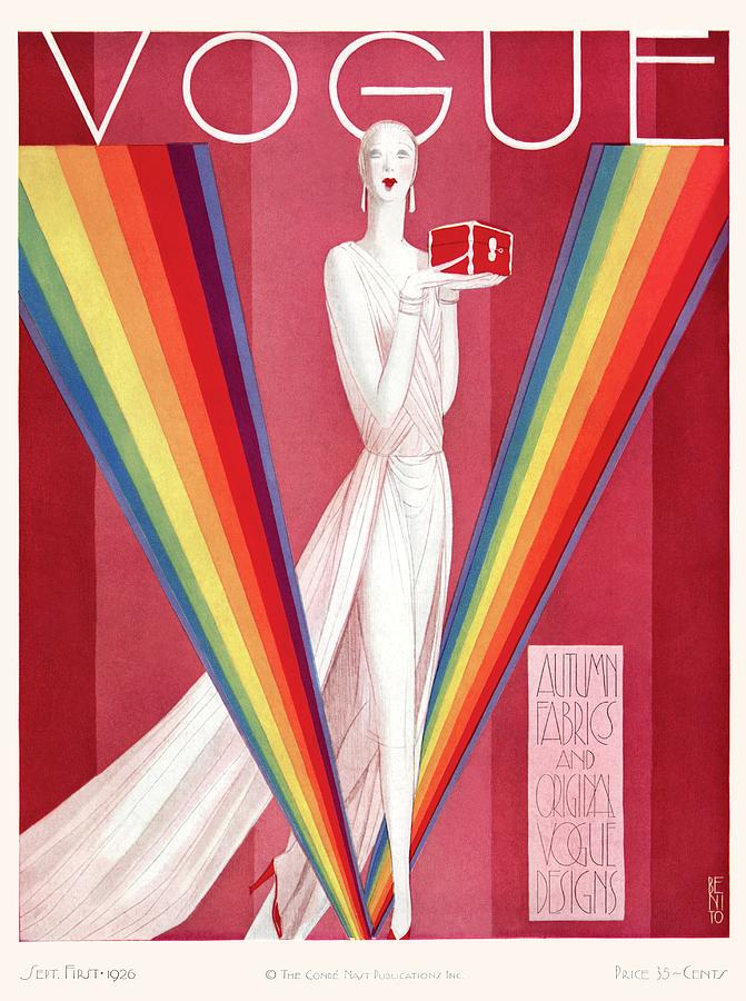 A Vintage Vogue Magazine Cover Of A Mannequin Photograph by Eduardo Garcia Benito