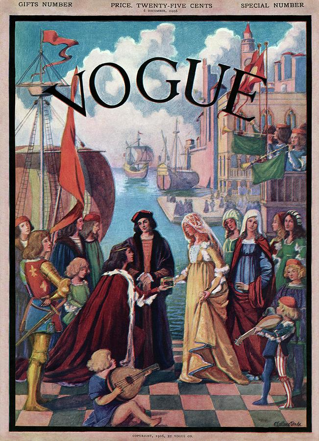 A Vintage Vogue Magazine Cover Of A Medieval Man Photograph by Esther Peck