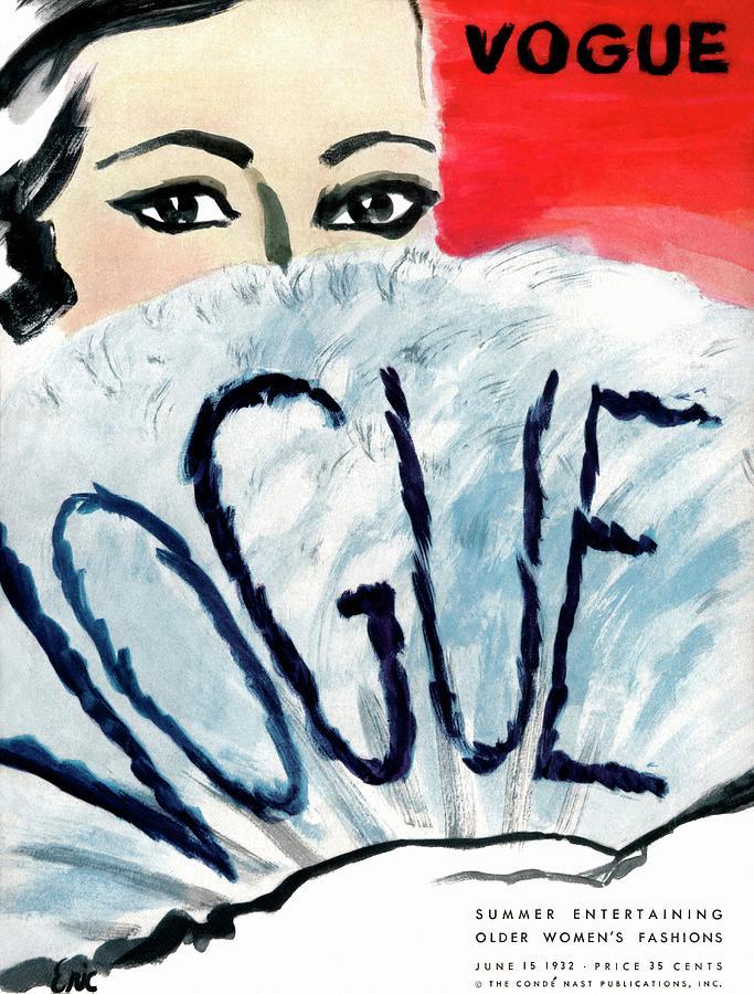 A Vintage Vogue Magazine Cover Of A Woman Photograph by Carl Oscar August Erickson
