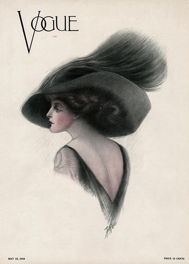 A Vintage Vogue Magazine Cover Of A Woman Photograph by F Rose