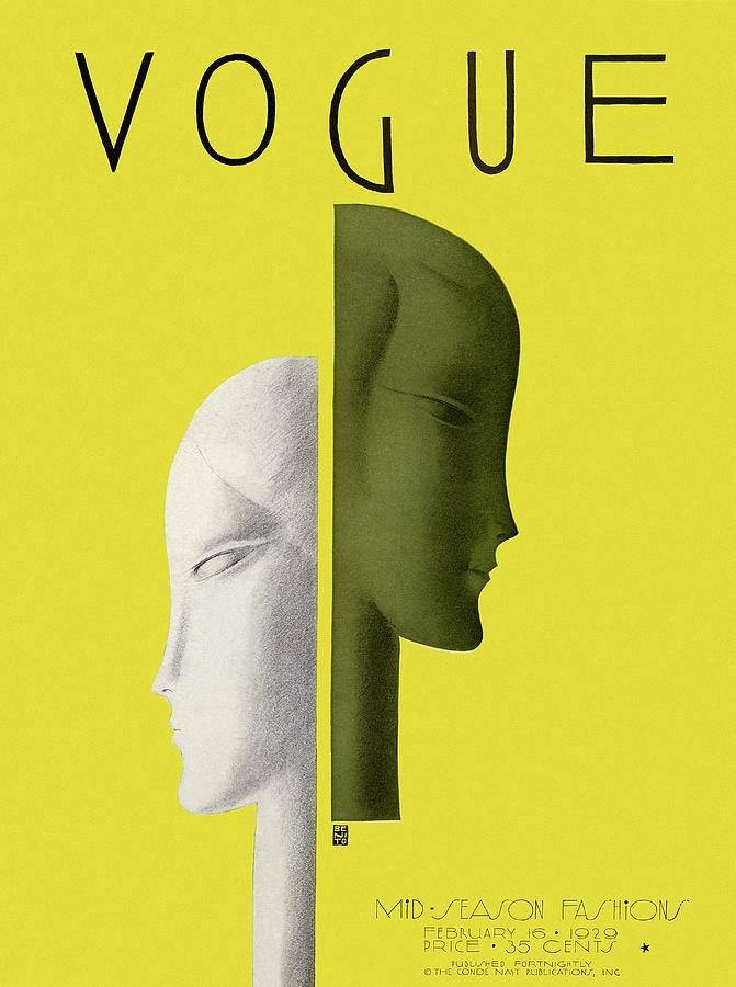A Vintage Vogue Magazine Cover Of Two Woman Photograph by Eduardo Garcia Benito