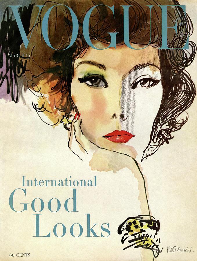 A Vogue Cover Illustration Of Nina De Voe Photograph by Rene R Bouche