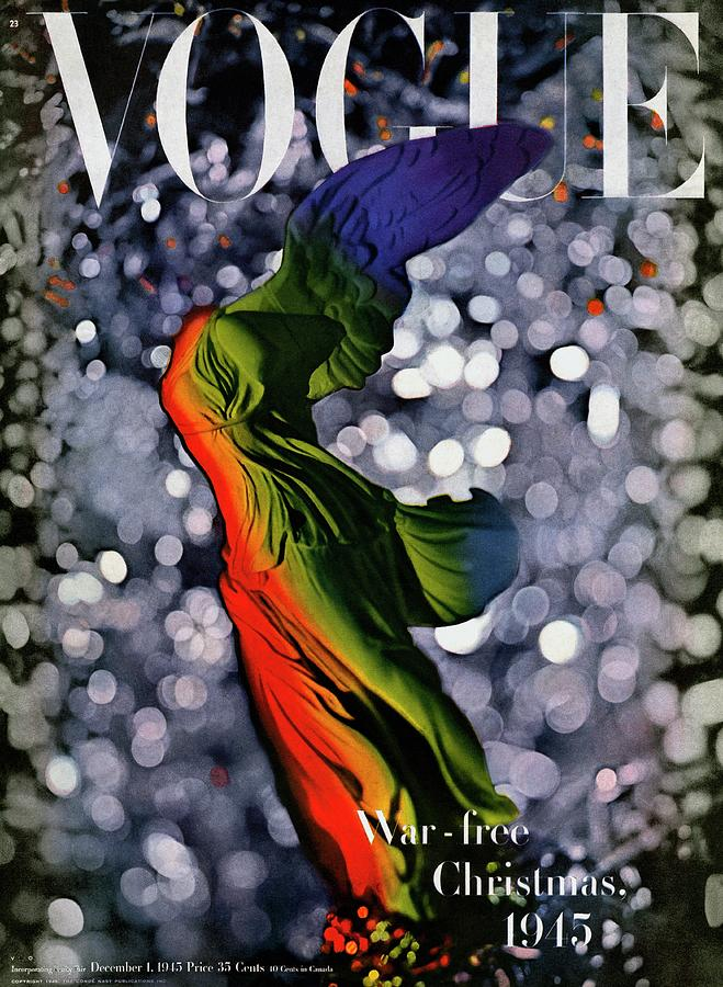 A Vogue Cover Of A Colorful Victory Statue Photograph by Erwin Blumenfeld