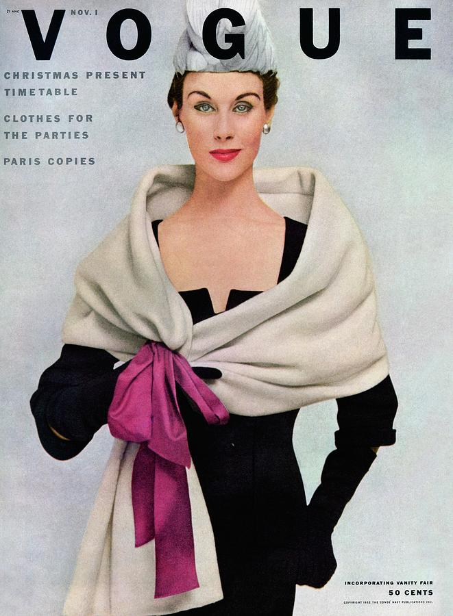 A Vogue Cover Of A Woman Wearing Balenciaga Photograph by Frances Mclaughlin-Gill