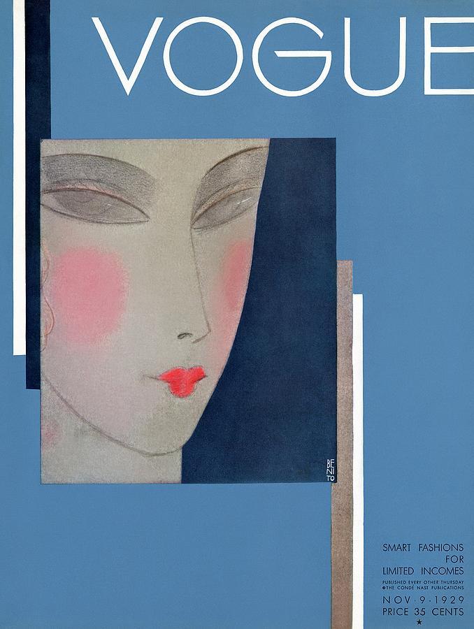 A Vogue Cover Of A Womans Head Photograph by Eduardo Garcia Benito