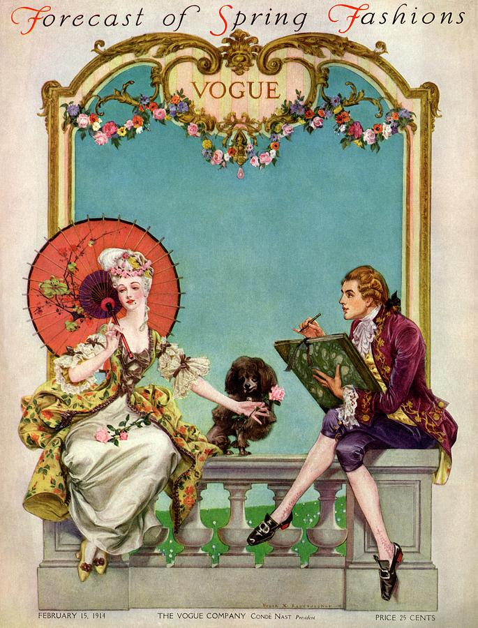 A Vogue Cover Of An 18th Century Couple Photograph by Frank X. Leyendecker