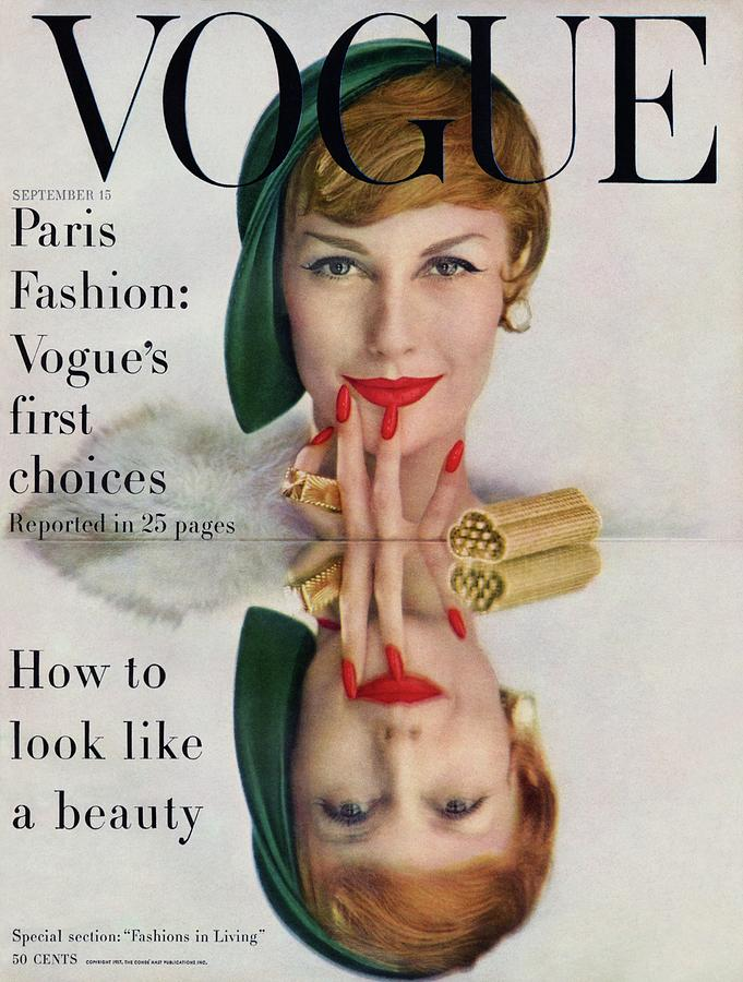 A Vogue Cover Of Mary Jane Russell Photograph by John Rawlings