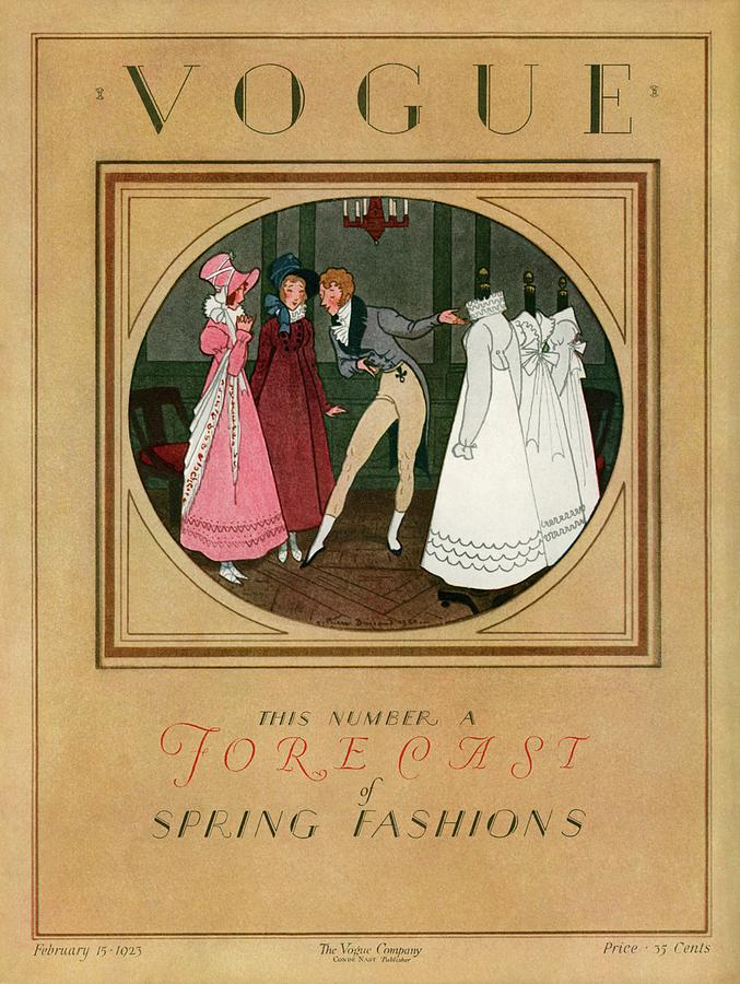 A Vogue Cover Of Women Shopping Photograph by Pierre Brissaud