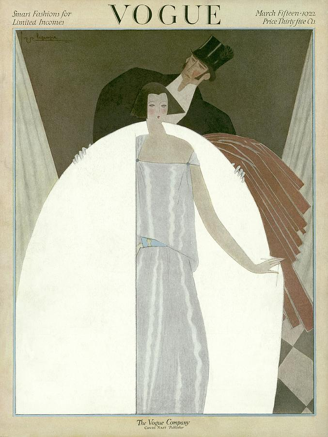 A Vogue Magazine Cover Of A Wealthy Man And Woman Photograph by Georges Lepape