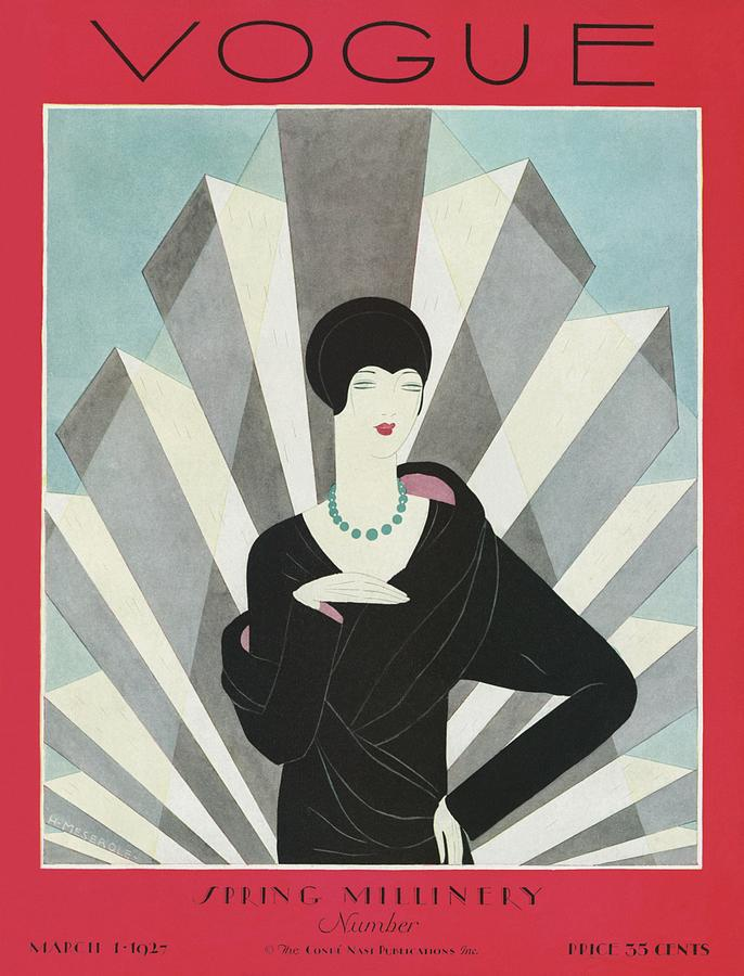 A Vogue Magazine Cover Of A Wealthy Woman Photograph by Harriet Meserole