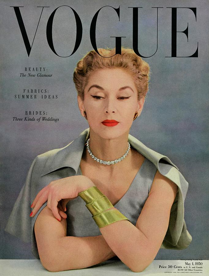 A Vogue Magazine Cover Of Lisa Fonssagrives Photograph by John Rawlings