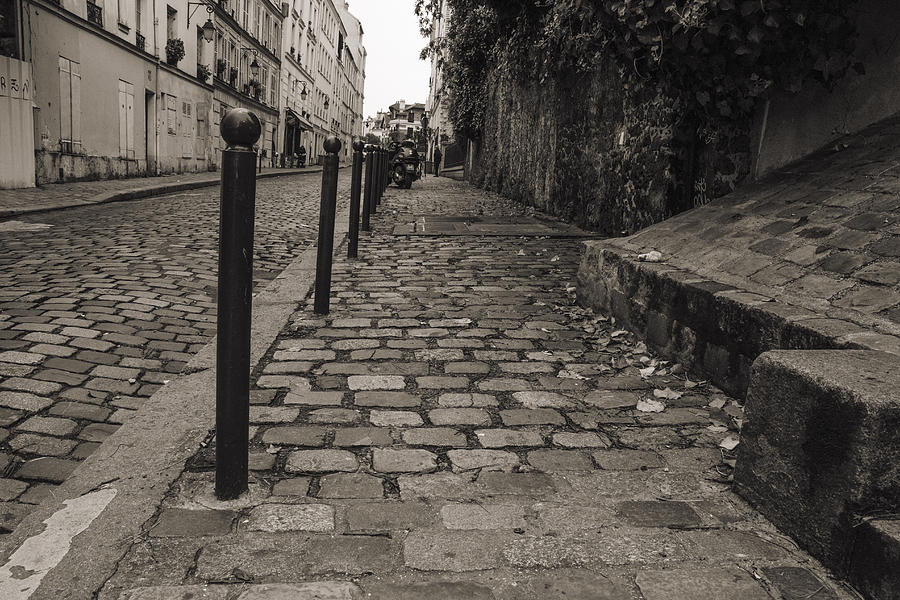 Paris Street Photograph - A Walk Along The Cobbled Streets by Georgia Fowler