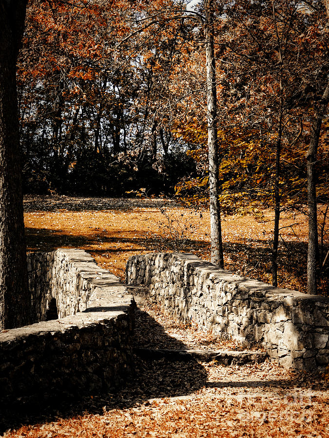 Walk Photograph - A Walk Along The Old Stone Path by Lincoln Rogers