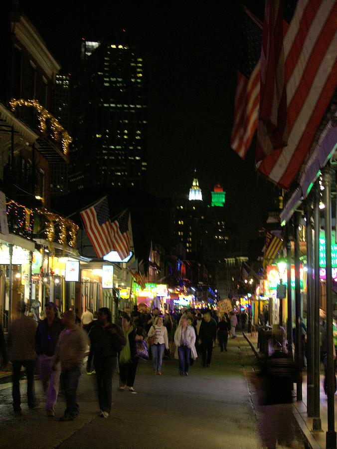 A Walk Down Bourbon St. Photograph