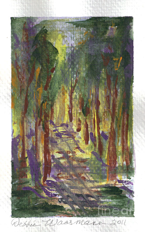 Walk Painting - A Walk In The Park by Debbie Wassmann