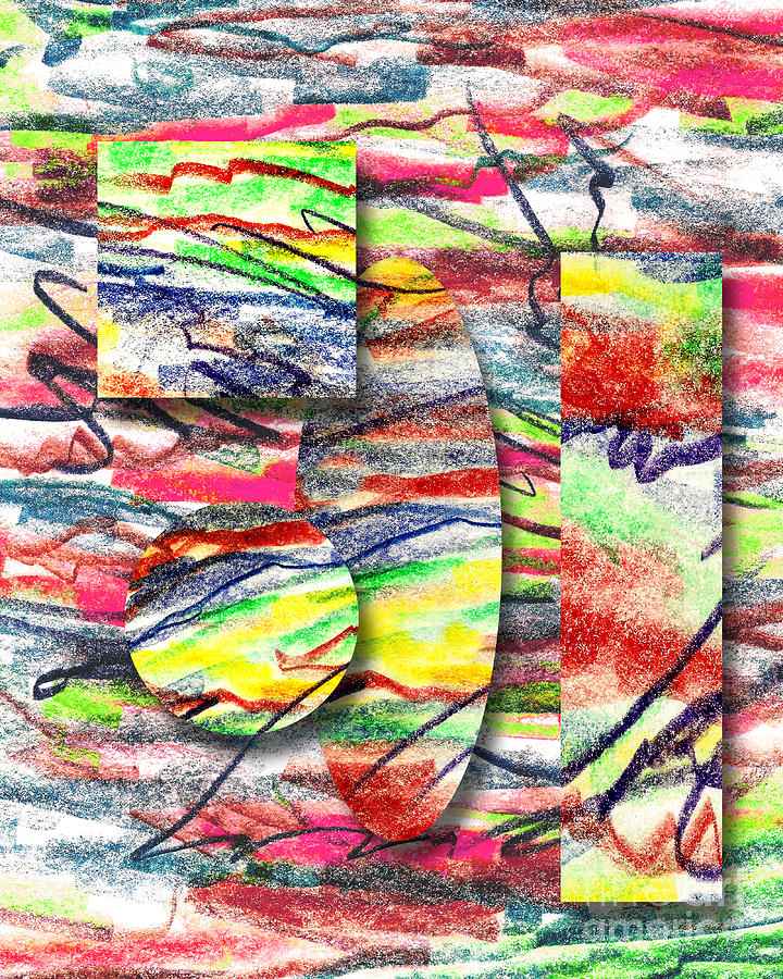Abstract Drawing - A Walk In The Park  by Peter Piatt