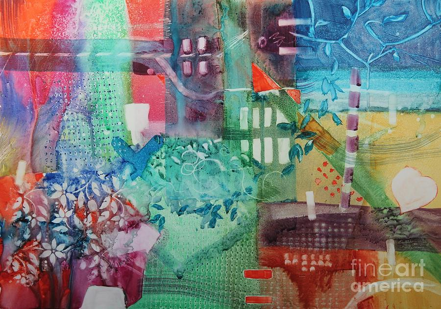 Abstract Painting - A Spring Walk In The Park   by Elizabeth Carr