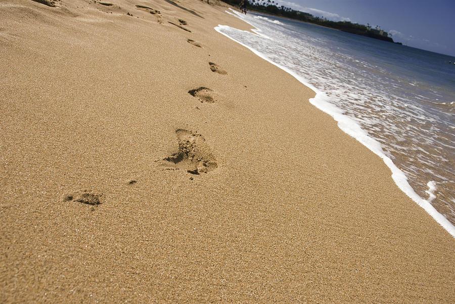 a walk on the beach photograph by chris ann wiggins
