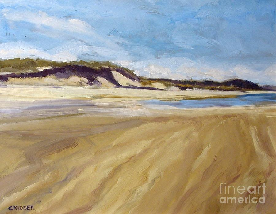 Landscape Painting - A Walk On The Beach by Colleen Kidder