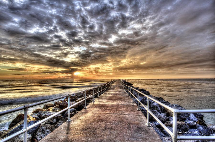 Daytona Photograph - A Walk To The Horizon by Brent Craft