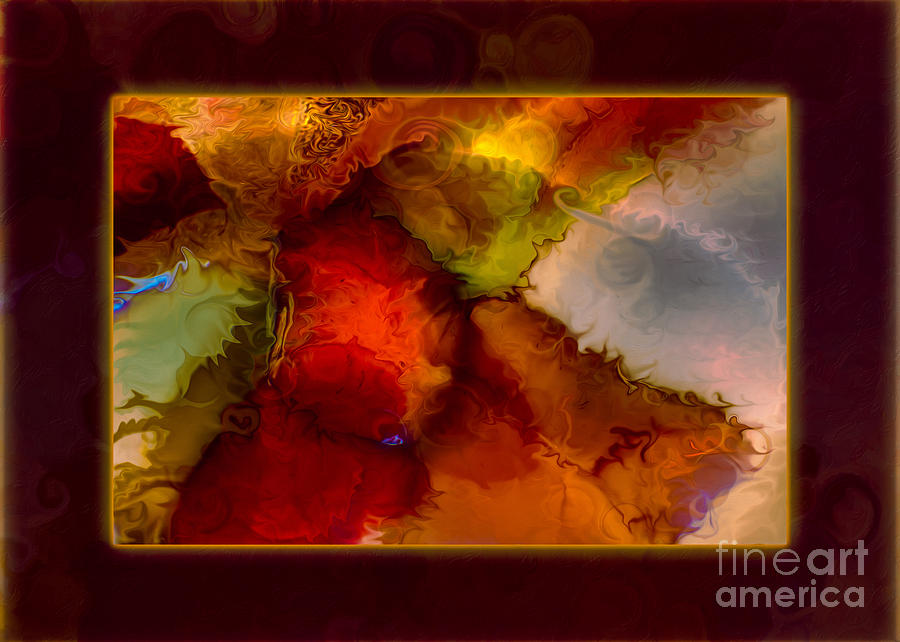 5x7 Painting - A Warrior Spirit Abstract Healing Art by Omaste Witkowski
