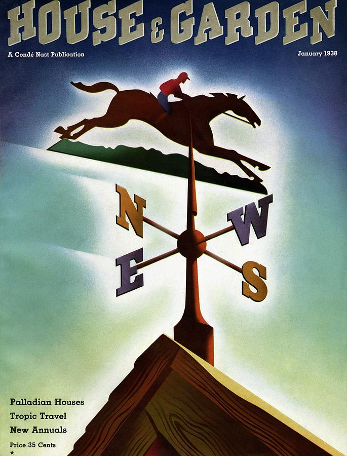 A Weathervane With A Racehorse Photograph by Joseph Binder