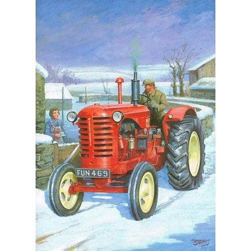 Tractor Painting - A Welcome Cuppa. by Mike  Jeffries