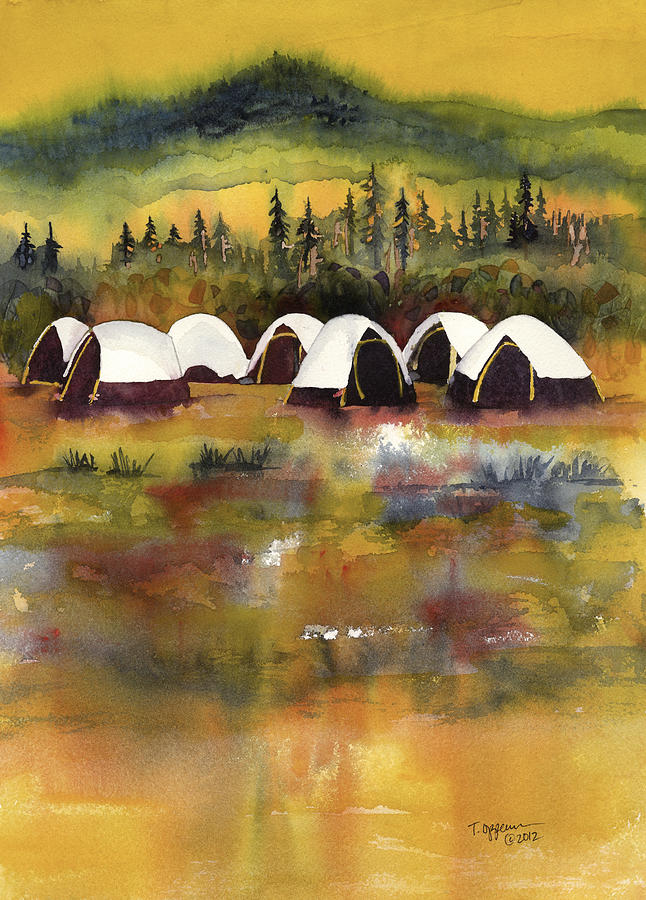 A Welcome Rain in Fire Camp by Tonja Opperman