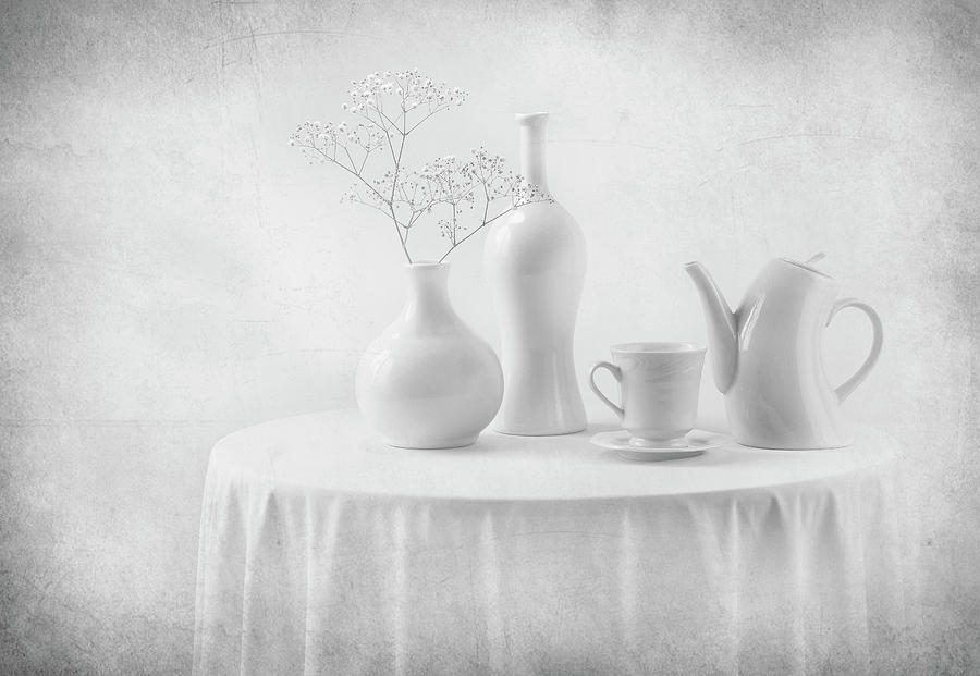 High Key Photograph - A White Dream by Margareth Perfoncio