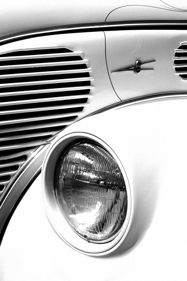 Car Photograph - A White V8 by Paul W Faust -  Impressions of Light