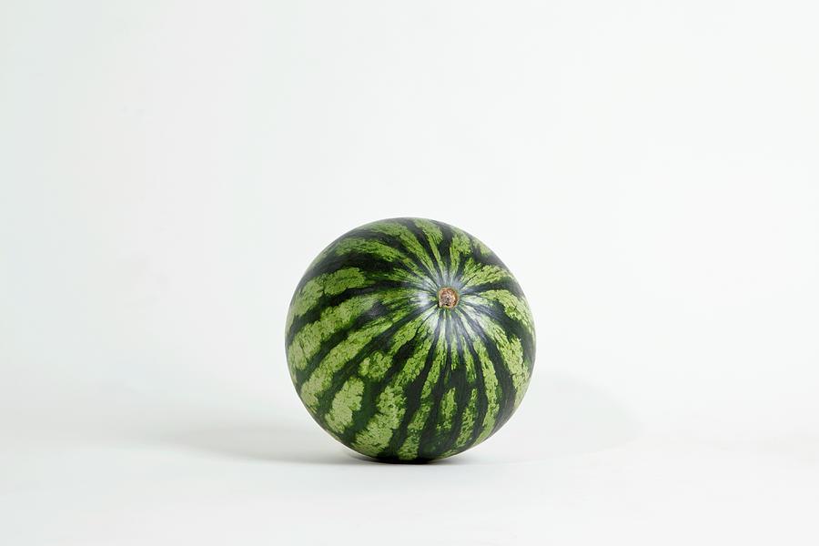 A Whole Ripe Watermelon, Studio Shot Photograph by Halfdark