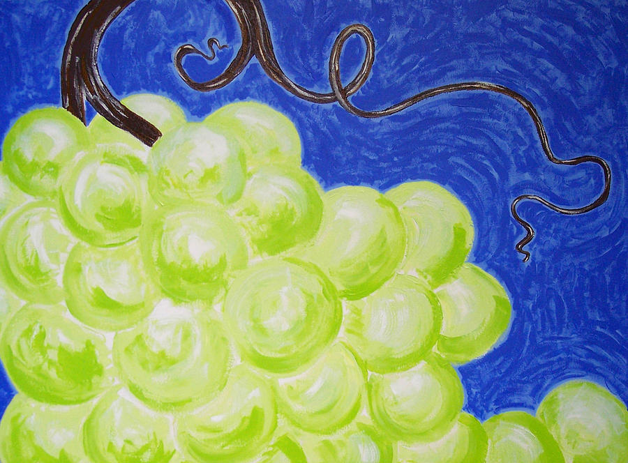 Grapes Painting - A Wild Bunch by Kristina Zographos
