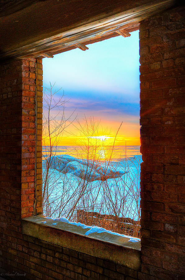 Chicago Photograph - A Window To Lake Michigan  by Michael  Bennett